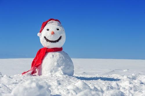 snowman-blue-sky